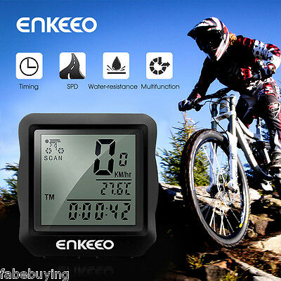 Waterproof Sports Cycling Bike Bicycle Wired Cycle Computer Odometer Speedometer