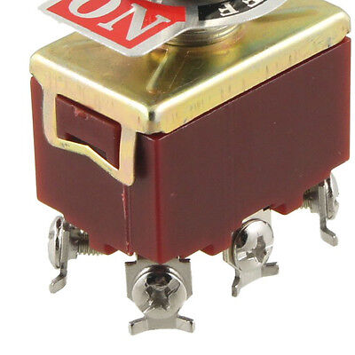 On/Off/On 3 Position DPDT 6 Screw Terminals Toggle Switch AC 250V 15A LW
