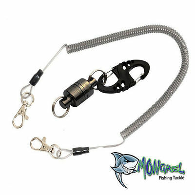 NEW Magnetic Release Clip - for fly fishing landing net + cord Mongrel Fishing