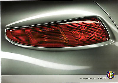 Alfa Romeo GT Accessories 2008-09 UK Market Sales Brochure