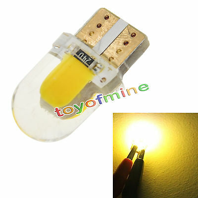 10x T10 194 168 W5W COB 8 SMD LED CANBUS Silica Warm White License Light Bulb
