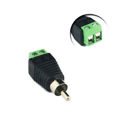 2.1mm DC Connection RCA Phono Male uk for audio connection CCTV dvr