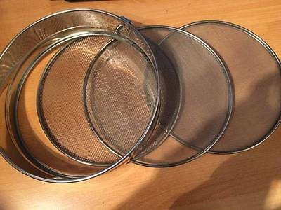 Artame 26cm Sifter/Sieve/Flour Stainless Steel with 3 Bases Fine,Medium,Corse