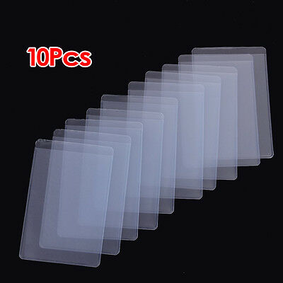 2X(10Pcs Soft Clear Plastic Card Sleeves Protectors, for ID Cards S*