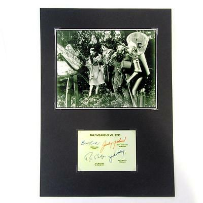 The Wizard of OZ-1939- Print & Pre Printed Signatures- On Black Card- Lot 3