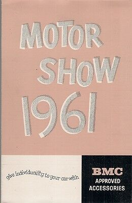 BMC Accessories Motorshow 1961 UK Sales Brochure Austin Morris Wolseley Riley MG