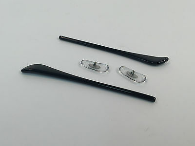 Replacement Temple Tips Black/Nose Pads Clear Set Rayban Sunglasses Aviator 3025