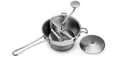 NEW Commercial Kitchen Mouli Food Mill 20CM Stainless Steel 2 Blades