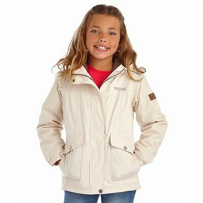 "Regatta Girls Akela Waterproof Jacket (RKP118) in Light Vanilla - 32"" only"