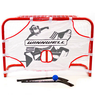 Ice Hockey Mini Goal Set, Skills Trainer, Sticks and Ball ( Metal Frame )