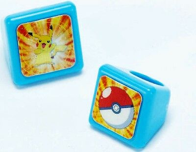 Pokemon Diamond and Pearl Lenticular 3D Ring Rings Party Favors Supplies