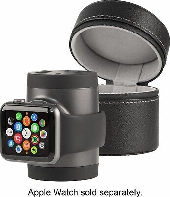Techlink - Recharge Portable Charger & Travel Case Apple Watch 38mm 42mm BLACK**