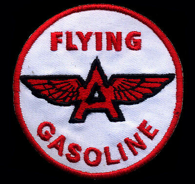 Flying A Gasoline Patch Hot Rod Mechanic Gas Station