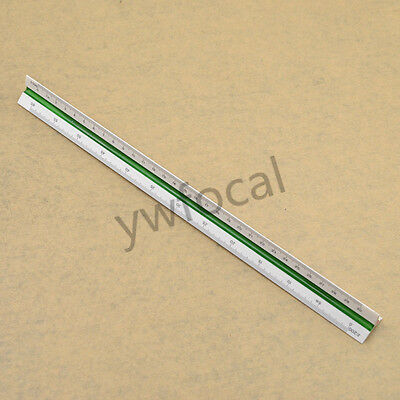 30cm Proportion Triangle Scale Ruler Transparent Stationery Measuring Supplies
