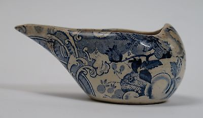 Early Staffordshire blue and white transfer printed pap bowl c1810