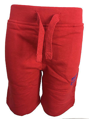 New Ex Firetrap Red Colour Boys Kids Children Sweat Shorts Bottom Ages 2-13 yrs