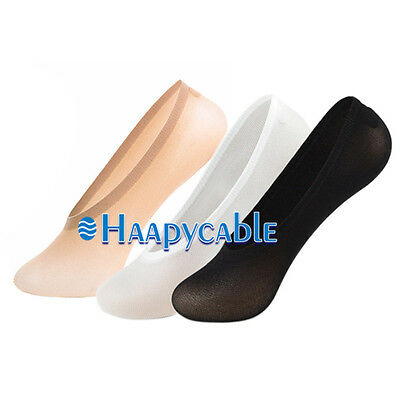 New 1Pair Womens Liner Invisible No Show Boat Socks Nonslip Cotton Liner Low Cut