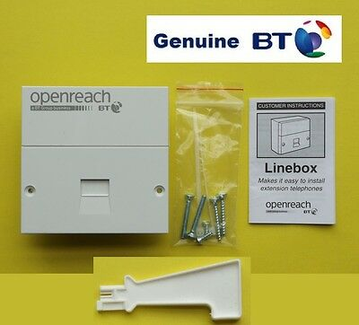 Genuine BT Master Socket. New. OpenReach Brand NTE5 NTE5a Faceplate BNIB+BackBox