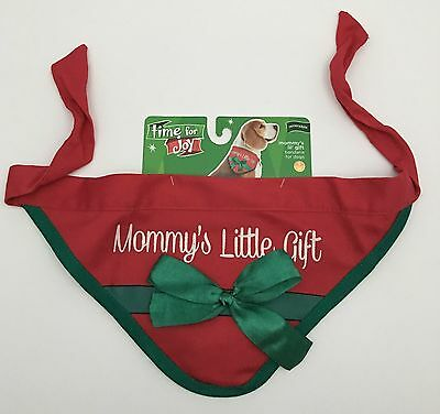 Mommy's Little Gift Re-Gifted Reversible Christmas Dog Bandana Scarf Size S/M