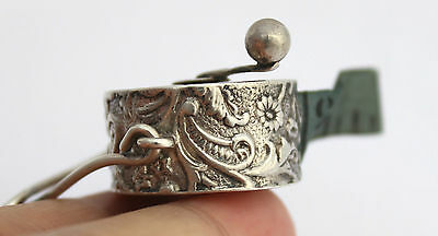 Victorian Solid Silver Chatelaine Tape Measure Lawrence Emanuel c.1897
