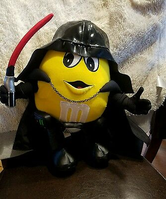 Yellow M & M Darth Vader Plush 15 in Rare Star Wars Excellent