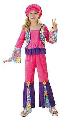 Nwt Totally Ghoul Hippie Girl 60u0027s Flower Child Halloween Costume - Groovy Kid  sc 1 st  PicClick : hippie costume kid - Germanpascual.Com