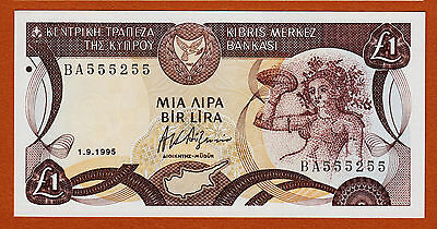 Cyprus 1995 One Pound Pick-53d UNC