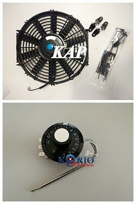"Universal 10"" inch 12V Reversible Electric Cooling Thermo Fan &Thermostat Switch"