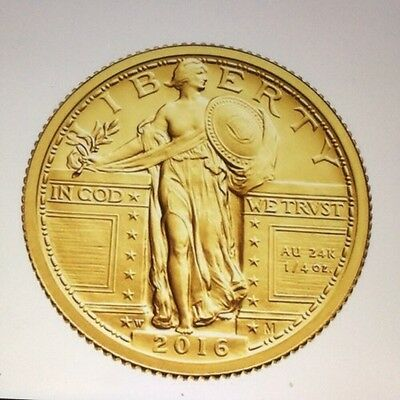 2016 Centennial Gold coin Standing Liberty quarter With OGP US Mint 16XC 。