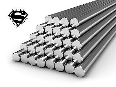 Stainless Steel Round Bar Grade 304 & 316  30CM or 1MTR Length ...LARGE SIZES!!!