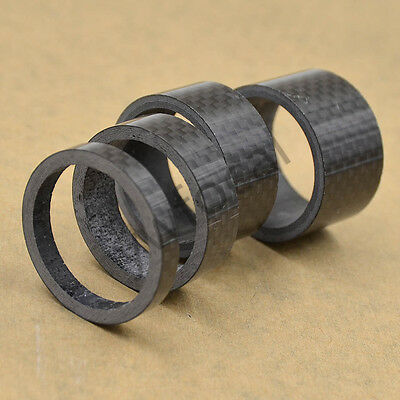 1 Set Carbon Fiber Stem Washer Spacer Bicycle Bike Headset Fork 5/10/15/20mm
