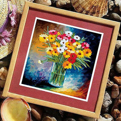 1 Pc 3D Beginner Flowers Ribbon Embroidery Needlework Kits Cross Stitch Sewing
