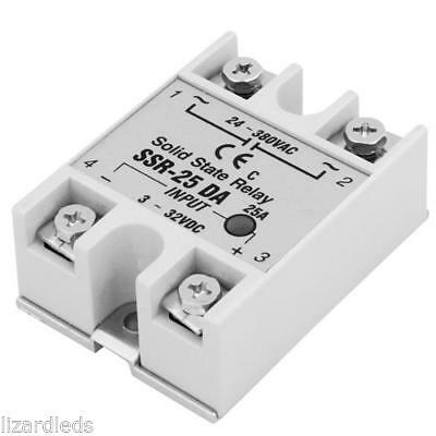 Solid State Relay SSR Input 3-32V DC Output 24-380V AC 25A Electronic Switching