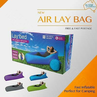 Air Lay Bed Lay bag Camping Fast Inflatable Lazy Lounge Sleep Bag Sofa Hiking