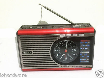 NEW COOL DESIGN AM/FM 4 BAND Portable radio With USB/SD MUSIC PLAYER-BRAND NEW