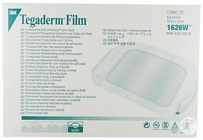 (50 PACK) 3M TEGADERM TRANSPARENT FILM DRESSING WATER PROOF- 1626W  (Exp 2019)