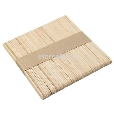 50PCS Wooden Waxing Spatula Tongue Depressor Tattoo Wax Medical Stick NEW uk
