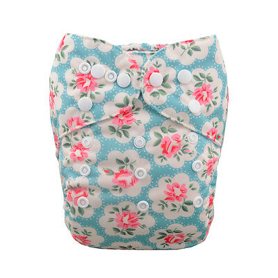 1 Baby Cloth Diaper Nappy Reusable Washable Pocket Microfleece Flower Floral