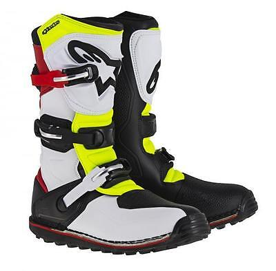Alpinestars TECH T Trials Bike Boots. White/Red/Flouro. ALL SIZES. SPECIAL OFFER