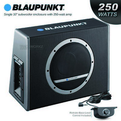 "BLAUPUNKT Magic Blue XLB 250A 10"" Car Active Subwoofer with Built In Amplifier"
