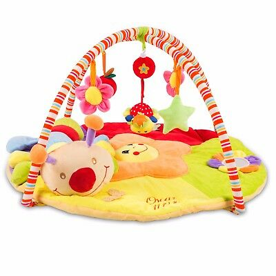 Baby Musical Play Mat *FREE* Tummy Time Caterpillar Soft Toy - Personalised