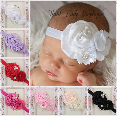Baby Girls Kids Headband Flower Head Elastic Band Hairband Hair Accessories