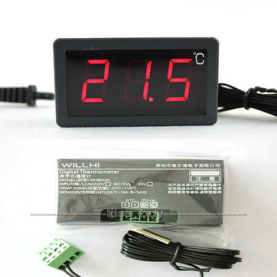 AC 220V/ 12V Digital large screen Thermometer Temperature FOR CAR water heater
