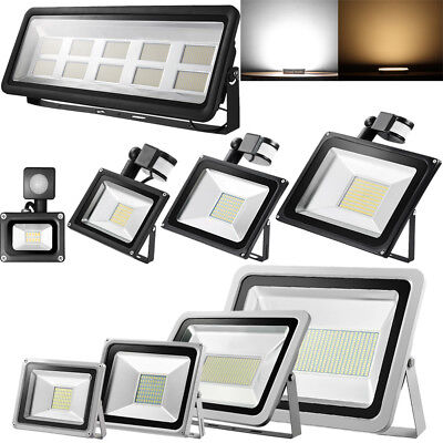 LED Floodlight PIR Sensor 10/20/30/50/100W SMD Security Flood Light Warm Cool UK