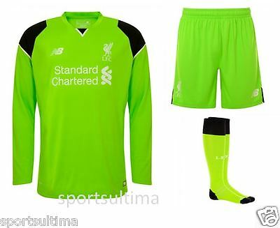 New Balance Liverpool Home Goalkeeper GK Kit 2016/17 -Kids