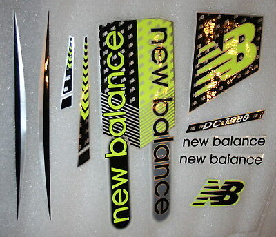 2018 NEW BALANCE Cricket bat Stickers  - ONE FULL SET for 1 Full Size Bat