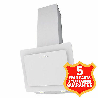 60cm Cooker Hood Chimney Air Extractor Fan 628m3/h 7260W White MADE IN ITALY