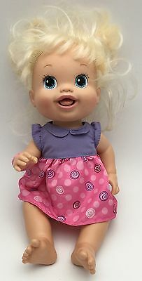 2010 Baby Alive Doll Blonde Drink And Wets