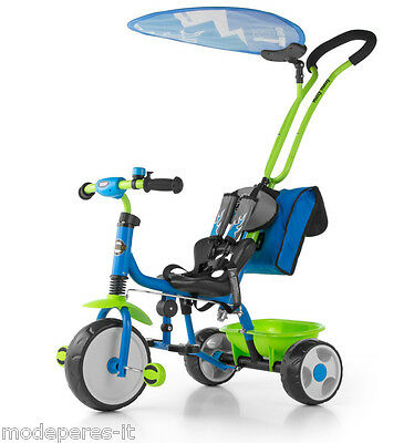 Tricycle Scooter With Handle Directional Canopy Parasol Delux 2016