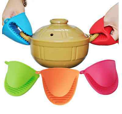 Kitchen Heat Resistant Silicone Glove Oven Holder Baking Cooking Mitts